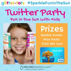 Sparkle Fun In The Sun Twitter Party with SparkleScreen sponsored by GlitterTots