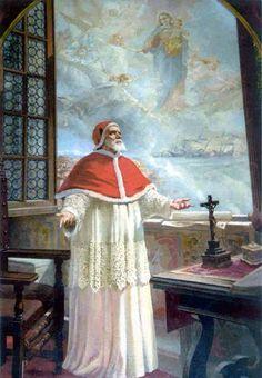 30 april: H. Paus Pius V (1504-1572), de paus die de Contrareformatie begon met het uitvoeren van de besluiten van het Concilie van Trente. Catholic Art, Catholic Saints, Roman Catholic, Catholic Beliefs, Knights Hospitaller, Knights Templar, Battle Of Lepanto, Happy Feast Day, Holy Rosary