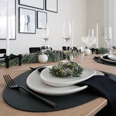"""LIND DNA on Instagram: """"A beautiful and simple Scandinavian Christmas Table at @nedashome 🌟  #tableware #linddna #danishdesign #stoneware #tablemats…"""" Scandinavian Christmas, Danish Design, Dna, Stoneware, Table Settings, Dining, Simple, Tableware, Beautiful"""