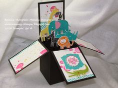 Card in a box - fits in a standard envelope, no extra postage required!!! great tutorial video