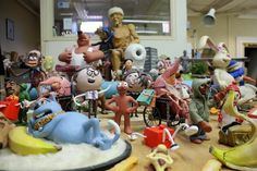 In the Aardman model making archive...
