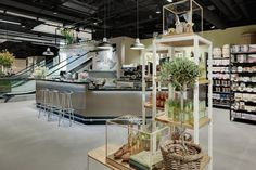Jelmoli Department Store by Schweitzer Group, Zurich – Switzerland The design is the one of a modern, contemporary market hall where food meets fashion. An incredibly fresh and new appearance represents the new Jelmoli food world,