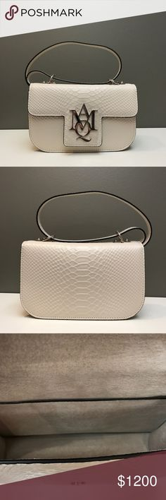 Alexander McQueen Python Print Leather Bag Brand new. Authentic. No trades. Dustbag included. Made in Italy. Alexander McQueen Bags Shoulder Bags