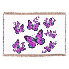 #Butterflies #Blanket Pink Butterfly Throw Blanket. $79.95