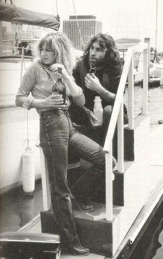 Christine McVie and Dennis Wilson