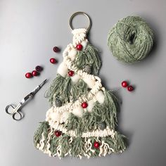 Hanging Macrame Christmas Tree Pattern. Beginner DIY project, perfect for your own home or a gift for that special someone! Digital download includes: 1 PDF file for one Pattern Design. File includes: - list of supplies needed - photos of completed project - complete