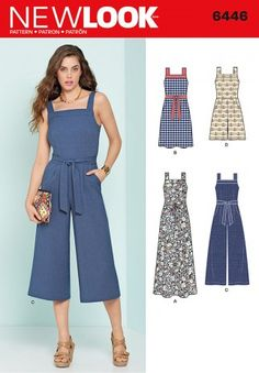 New Look Ladies Sewing Pattern 6446 Jumpsuits & Dresses | Sewing | Patterns | Minerva Crafts