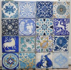 Blue and White Tiles oil painting by artist, Kate Stone.