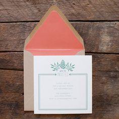 hello tenfold. pine cone invitation