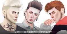 Sims 4 CC's - The Best: XXL Beard Update by Pralinesims