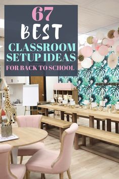 elementary classroom decor The best classroom setup ideas to get your class ready for back to school inlcluding ideas for a teacher toolbox plus, find out how to get free cla Classroom Decor Themes, Classroom Setup, Classroom Design, Science Classroom, Kindergarten Classroom Decor, Classroom Libraries, School Libraries, Future Classroom, Middle School Classroom