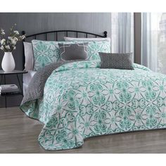 Enhance the comfort of any room with this cozy, comfortable Paloma Quilt set. Crafted from 100-percent microfiber polyester for softness and durability, this quilt set is machine washable for ease of laundering.