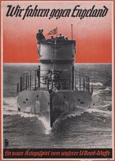 "German WWII poster ""Wir fahren gegen Engeland"" (We're going against England, or something very similar. My German is poor!)"