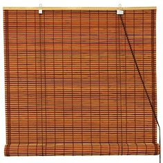 Oriental Furniture Burnt Bamboo Roll Up Blinds  Mahogany  60 in x 72 inB ** Check out this great product.