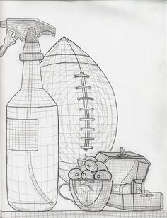 Cross contour on pinterest crosses still life and contour drawings