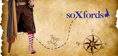 """""""X"""" marks the socks! Fact: Peg-legged pirates get twice the mileage out of every pair of #Soxfords."""