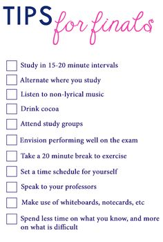 Ace your finals with these tips! #collegetips