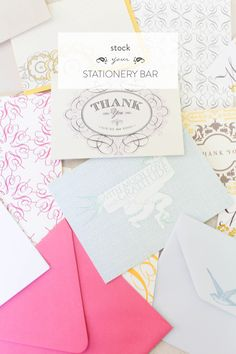 How-to Stock your Stationery Bar   Style Me Pretty