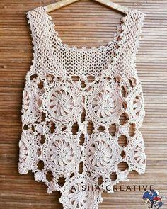 Crochet Bolero Pattern, Crochet Jacket, Crochet Blouse, Crochet Top, Crochet T Shirts, Crochet Clothes, Baby Knitting Patterns, Crochet Patterns, Crochet Summer Tops