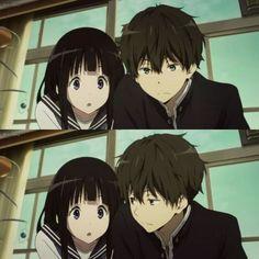 Anime Love Couple, Cute Anime Couples, Anime Films, Anime Characters, Manga Anime, Hyouka, Anime Couples Drawings, Slice Of Life, Anime Scenery