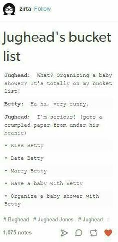 Aaaawweee my heart. Although I'm 50 50 with Bughead and Barchie. Bughead Riverdale, Riverdale Funny, Riverdale Memes, Riverdale Cole Sprouse, Betty And Jughead, Archie Comics, Betty Cooper, Bad Parenting, Peaceful Parenting