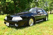 1990 Ford Mustang Gt Black Front Quarter