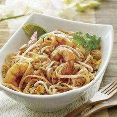 Easy Shrimp Pad Thai made with Thai Kitchen pad thai sauce