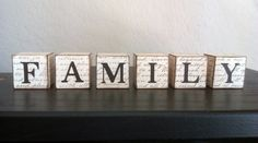 Decorative Family Wood Blocks