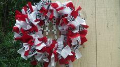 "Alabama Crimson Tide 12"" Rag Wreath wreaths"