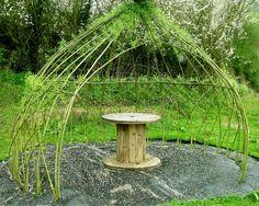 How to Build a Living Summer Shade Structure - http://modernfarmer.com/2015/05/how-to-build-a-living-summer-shade-structure/?utm_source=PN&utm_medium=Pinterest&utm_campaign=SNAP%2Bfrom%2BModern+Farmer