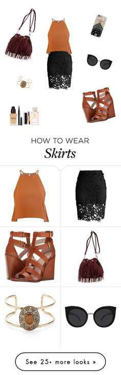 """""""stylish pencil skirt"""" by tylaajaade on Polyvore featuring Chicwish, Glamorous, Pour La Victoire, Casetify, Rebecca Minkoff, Quay, Marc Jacobs, Chanel, Tory Burch and Forever 21"""