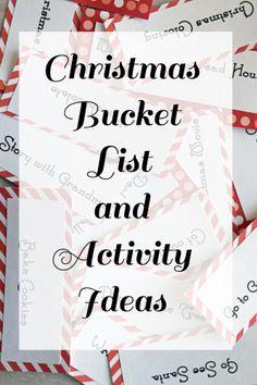 Christmas Bucket List and Activity Ideas long