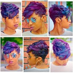 STYLIST FEATURE| This #pixiecut ✂️styled by #JacksonvilleNC stylist @JdrewHair is GORG Love the shades of purple #VoiceOfHair ========================== Go To: www.VoiceOfHair.com for natural hair, braids, black hair, curly hair, hair color, short hair, relaxed hair, protective styles ==========================