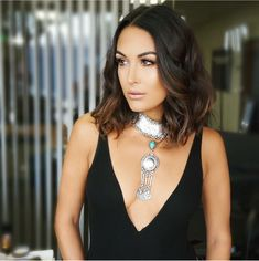 Beautiful Brie Bella Hairstyles for Women Inspiration Brie Bella Wwe, Nikki And Brie Bella, Celebrity Look, Hair Today, Hair Dos, Balayage Hair, Bellisima, Hair Inspiration, Short Hair Styles