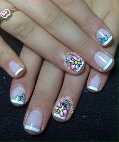 Cute Pedicure Designs, Cute Pedicures, Short Nail Designs, Short Nails, Fun Nails, Hair Beauty, Manicures, Inspiration, Diana