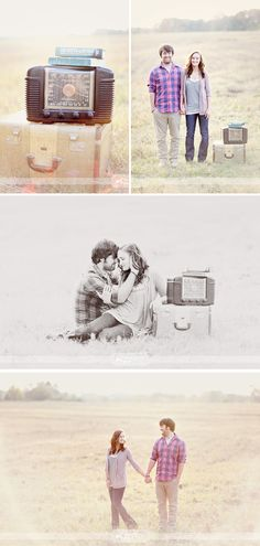 vintage inspired engagement photography