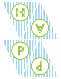 free printables boy birthday happy birthday banner blue green 1