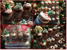Cake Push Pop Ideas For Christmas! Gingerbread Crunch Push up Cakes.