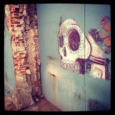Street art Skulls, Street Art, Painting, Instagram, Oaxaca, Painting Art, Paintings, Painted Canvas, Skeletons