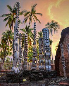 Puuhonua o Honaunau National Historic Park on the Big Island of Hawaii