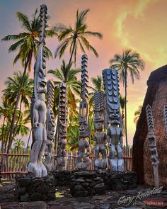 Puuhonua o Honaunau National Historic Park on the Big Island of Hawaii