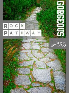 Gorgeous Rock Pathway ideas for your yard and landscape.