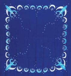 "Goddess altar cloth or scarve blue 36"" x 36"""