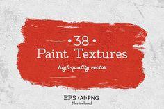 38 Vector Paint Textures,Shapes. by Alyona Vorotnikova on @creativemarket
