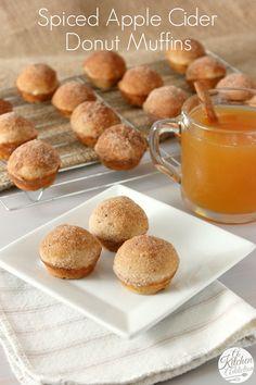 Spiced Apple Cider Donut Muffins