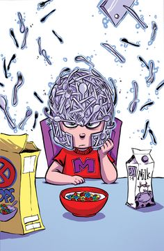 Magneto #1 Baby Variant - Skottie Young