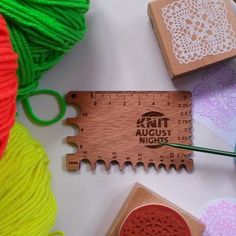 At home unpacking the spoils from Knit August Nights retreat. This DualGauge was custom branded for Maree from Knit August Nights as gifts to her tutors and helpers. Knitting Gauge, Gauges, Photo And Video, Gifts, Instagram, Presents, Ears Piercing, Gifs, Ear Plugs