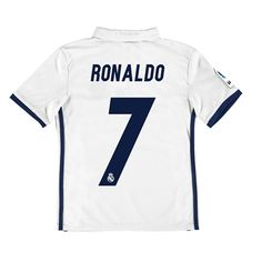 Real Madrid Home Jersey 2016/17 - Kids - with Ronaldo 7 printing: The Real Madrid Home Shirt 2016-17 -… #RealMadridShop #RealMadridStore