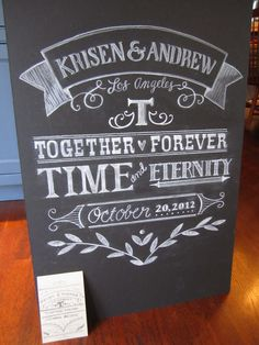 Lettering by Tina Jackson 60th Anniversary Parties, Anniversary Decorations, Wedding Anniversary, Anniversary Ideas, Chalkboard Drawings, Chalkboard Art, I Do Bbq, Creative Lettering, Time To Celebrate