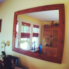 Mirror framed with #reclaimed wood. Finished with hand rubbed linseed oil & beeswax. #ecofriendly